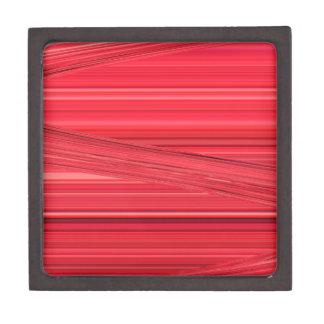 Las líneas rojas brillantes diseñan el arte de cajas de regalo de calidad