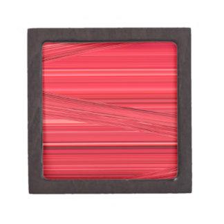 Las líneas rojas brillantes diseñan el arte de cajas de recuerdo de calidad