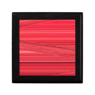 Las líneas rojas brillantes diseñan el arte de joyero cuadrado pequeño