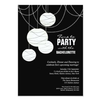 Las linternas blancas del boda del fiesta de comunicados personalizados