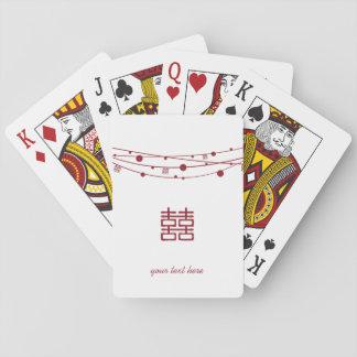 Las linternas dobles de la felicidad personalizan  baraja de cartas