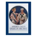 Las llamadas de América alistan en la marina de gu Postales