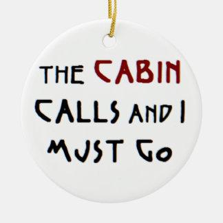 las llamadas de la cabina adorno navideño redondo de cerámica