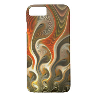 Las llamas anaranjadas abstractas fijaron Phasers Funda iPhone 7