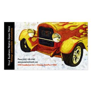 Las llamas anaranjadas brillantes restauraron el a tarjeta personal