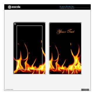 Las llamas ardientes encienden la piel del fuego kindle fire skins