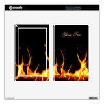 Las llamas ardientes encienden la piel del fuego skin para kindle fire