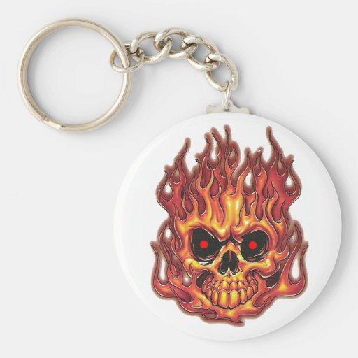 Las llamas de la muerte llaveros personalizados