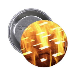 Las llamas del fuego a través de una fotografía de pin