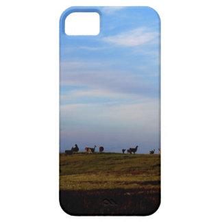 Las llamas en las praderas acercan a puesta del funda para iPhone 5 barely there