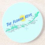 Las llaves de la Florida trazan el ejemplo retro Posavaso Para Bebida