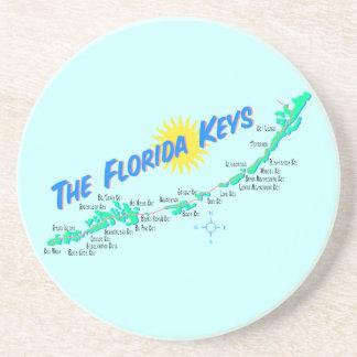 Las llaves de la Florida trazan el ejemplo retro Posavasos Manualidades