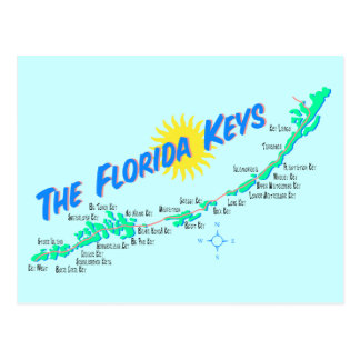 Las llaves de la Florida trazan el ejemplo retro Postal
