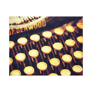 Las llaves de la máquina de escribir del vintage e impresion en lona