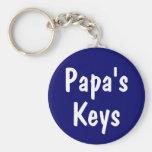 Las llaves de la papá llavero personalizado