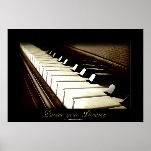 """Las LLAVES del PIANO """"persiguen poster del arte de"""