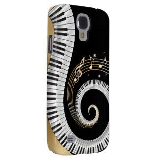 Las llaves del piano remolinaron con las notas mus funda para galaxy s4