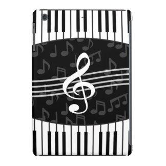Las llaves elegantes del clef y del piano de la funda para iPad mini retina