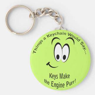 Las llaves hacen al Lt Keychain del ronroneo del m Llavero Redondo Tipo Pin