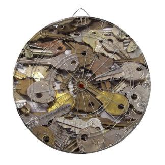 Las llaves oxidadas rústicas escogen su color del  tablero dardos
