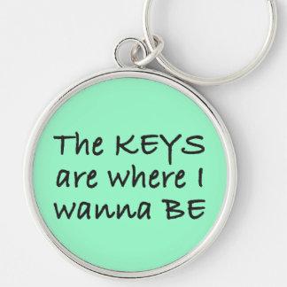 Las llaves son donde quiero ser llavero