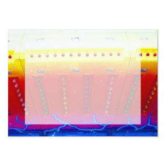 """las luces amarillas rojas del azul w del paseo invitación 5"""" x 7"""""""