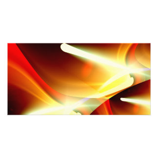 Las luces - ciencia ficción abstracta moderna tarjeta con foto personalizada