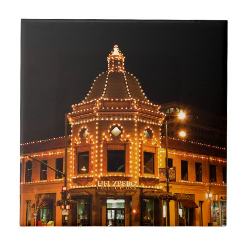 Las luces de la plaza de Kansas City Azulejo