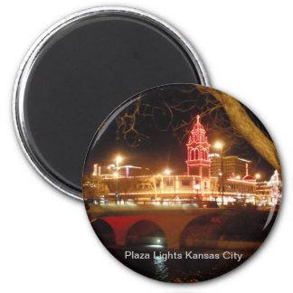 Las luces de la plaza imán redondo 5 cm