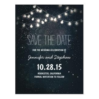 las luces de la secuencia ahorran la fecha con el postal