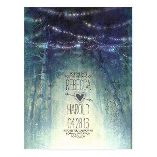 Las luces de la secuencia del bosque de Enchated Postales