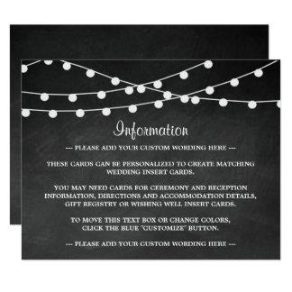 """Las luces de la secuencia en la colección del boda invitación 4.25"""" x 5.5"""""""