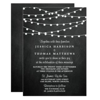 """Las luces de la secuencia en la colección del boda invitación 5"""" x 7"""""""
