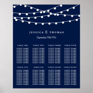 Las luces de la secuencia en la colección del boda póster