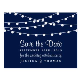 Las luces de la secuencia en la colección del boda tarjeta postal