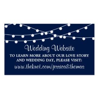 Las luces de la secuencia en la colección del boda tarjetas de visita