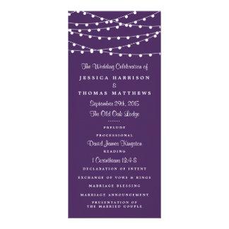 Las luces de la secuencia en la colección púrpura diseños de tarjetas publicitarias