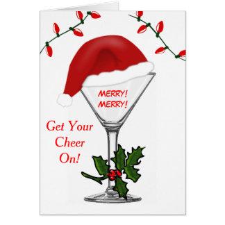 Las luces de navidad de Santa Martini consiguen su Tarjeta De Felicitación