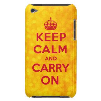Las luces de oro guardan calma y continúan el caso iPod touch protector