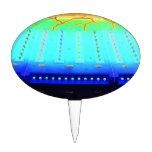 las luces invertidas del azul w del verde justo de decoración de tarta