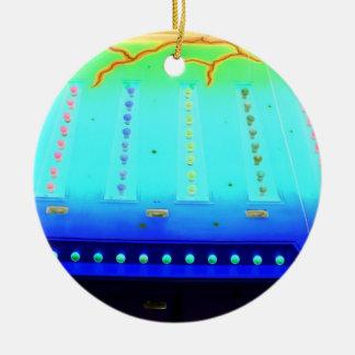 las luces invertidas del azul w del verde justo de ornamento de reyes magos