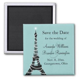 Las luces parisienses ahorran la fecha (la turques imanes de nevera