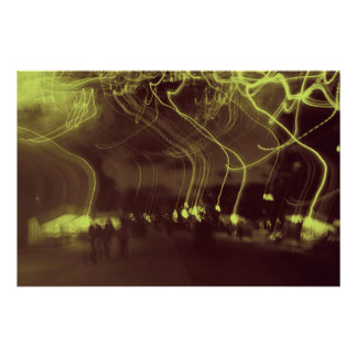 "Las ""luces van"" - poster que camina"