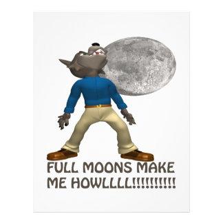 Las Luna Llena hacen que grita Tarjetones