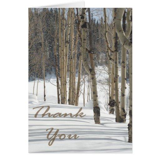 Las maderas de Aspen en navidad de la nieve le agr Tarjetón