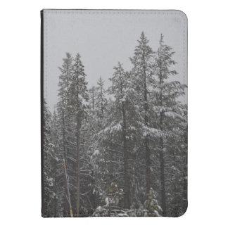 Las maderas del invierno encienden la caja funda de kindle 4