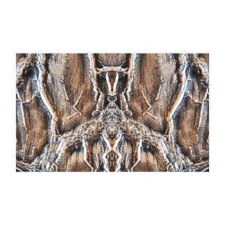 Las maderas impresiones en lona