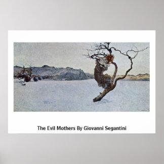 Las madres del mal de Giovanni Segantini Póster