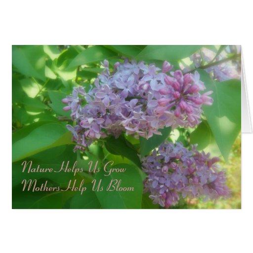 """Las """"madres nos ayudan a florecer"""" tarjeta del día"""