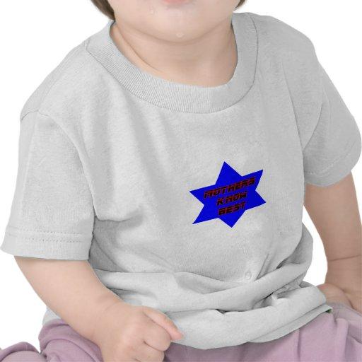 Las madres saben mejor el azul los regalos de camisetas
